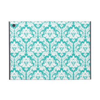 Turquoise Damask Pattern iPad Mini Cover