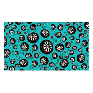 Turquoise dartboard pattern pack of standard business cards