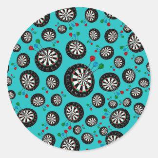 Turquoise dartboard pattern sticker