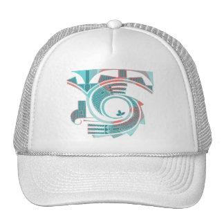 Turquoise Dawn Cap Mesh Hat