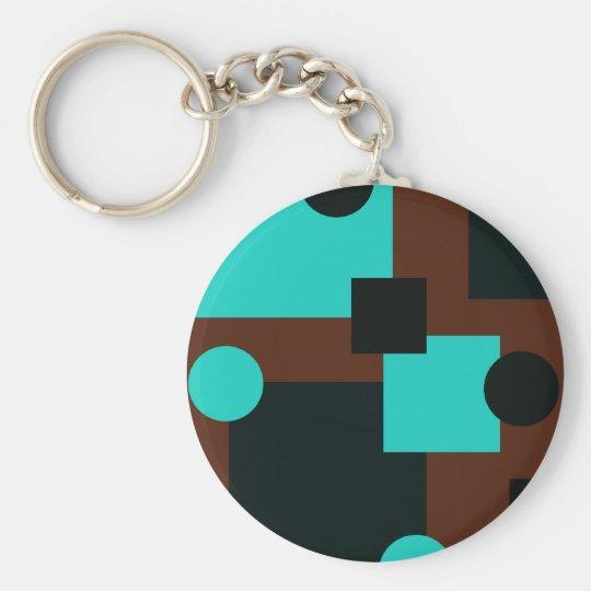 Turquoise Deco Keychain
