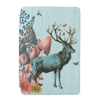 Turquoise Deer in Mushroom Forest 2 iPad Mini Cover