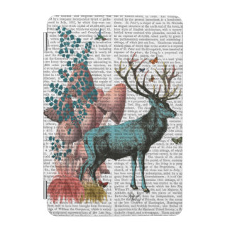 Turquoise Deer in Mushroom Forest iPad Mini Cover