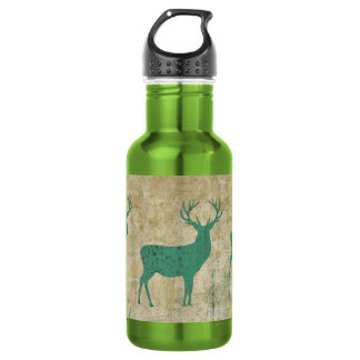 Turquoise Deer Silhouette Liberty Bottle 532 Ml Water Bottle