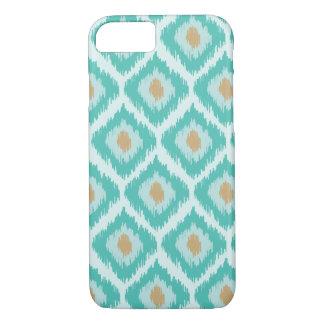 Turquoise Diamond Ikat Pattern iPhone 8/7 Case
