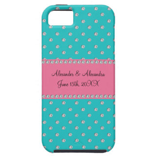 Turquoise diamonds wedding favors iPhone 5 cover