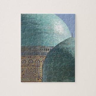 Turquoise domes, Shahr i Zindah mausoleum, Jigsaw Puzzle