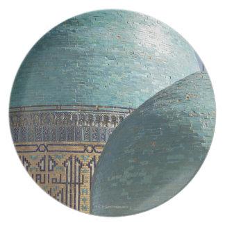 Turquoise domes, Shahr i Zindah mausoleum, Plate