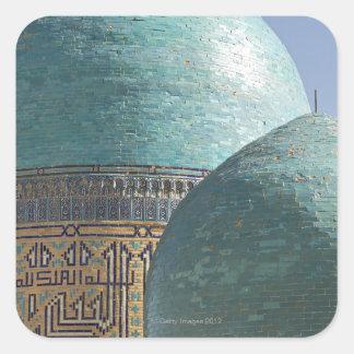 Turquoise domes, Shahr i Zindah mausoleum, Square Sticker