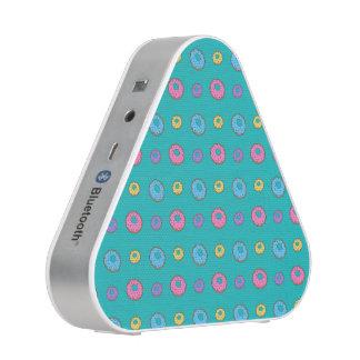 Turquoise donut pattern bluetooth speaker
