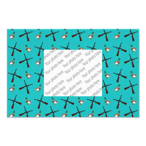 Turquoise duck hunting pattern art photo