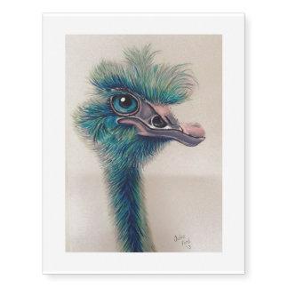 turquoise emu tattoo