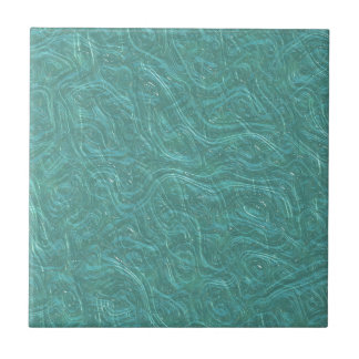 Turquoise Etched Glass. Retro Vintage Pattern Tile