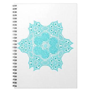 Turquoise ethnic design spiral notebook