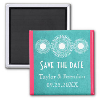 Turquoise Far East Elegance Save the Date Magnet