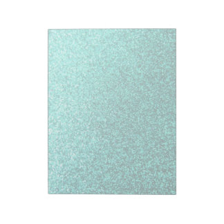 Turquoise faux glitter graphic notepad