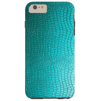 Turquoise Faux Leather Snake-Skin Look Tough iPhone 6 Plus Case