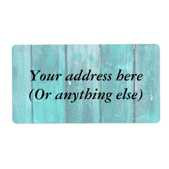 Turquoise Fence Shipping Label