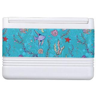 Turquoise Fish Pattern Igloo Cooler