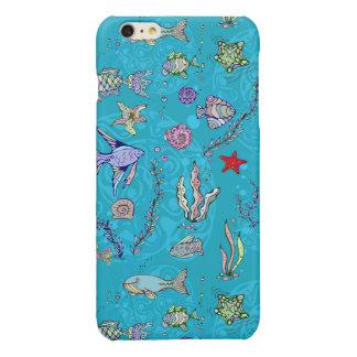 Turquoise Fish Pattern iPhone 6 Plus Case