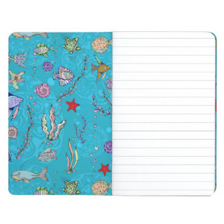 Turquoise Fish Pattern Journals