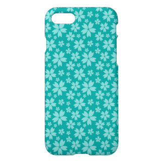 Turquoise Floral Custom iPhone 7 Glossy Case