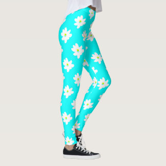 Turquoise Floral Menagerie Leggings