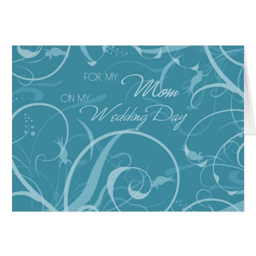 Turquoise Floral Mom Wedding Day Thank You Card