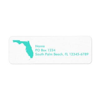 Turquoise Florida Personalized