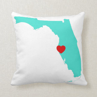 Turquoise Florida with Red Heart Cushion