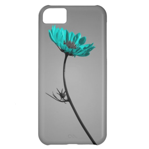 turquoise flower iPhone 5C covers