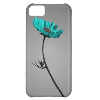 turquoise flower iPhone 5C case