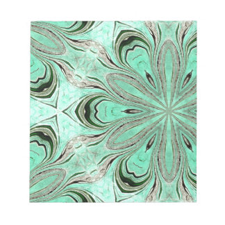 Turquoise flower pattern (K361) Notepad