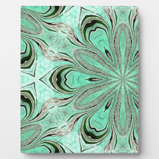 Turquoise flower pattern (K361) Plaque