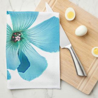 TURQUOISE FLOWER POWER TEA TOWEL