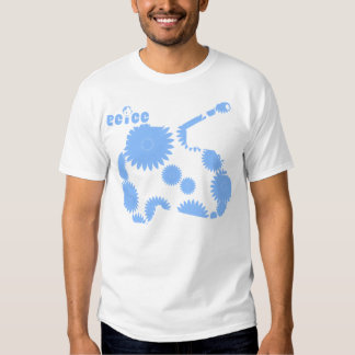 TURQUOISE FLOWERS ON WHITE T SHIRTS