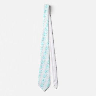 Turquoise Flowers Tie
