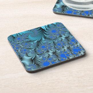 Turquoise Fractal Coaster