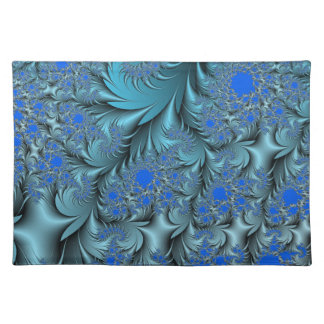 Turquoise Fractal Placemat