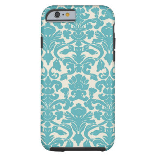 Turquoise French Damask Tough iPhone 6 Case