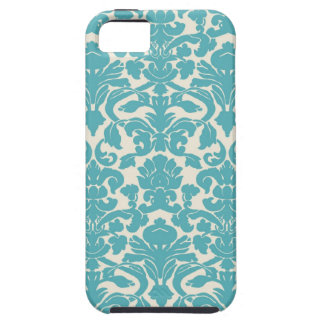 Turquoise French Damask iPhone 5 Case