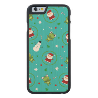Turquoise frogs santa claus snowmen carved® maple iPhone 6 case
