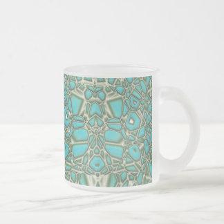 Turquoise (frosty mug) frosted glass mug