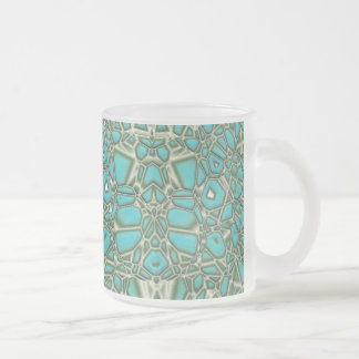 Turquoise (frosty mug) frosted glass coffee mug