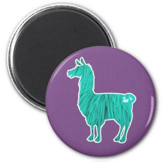 Turquoise Furry Llama Magnet
