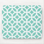 Turquoise Geometric Mouse Pads
