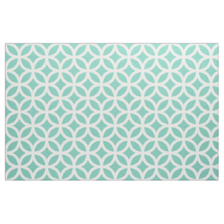 Turquoise Geometric Pattern Fabric