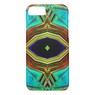 Turquoise Geometrical Design Shapes iPhone 8/7 Case