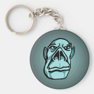 Turquoise Giant Basic Round Button Key Ring