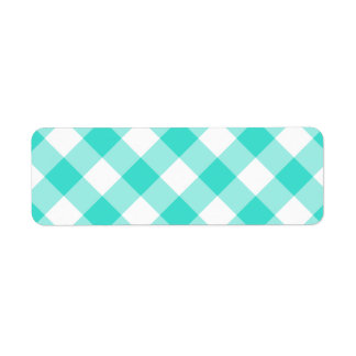 Turquoise Gingham Pattern